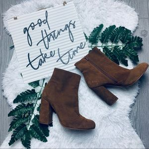Steve Madden leather suede brown boots booties